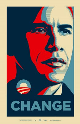 Obama's Election Victory Projected on an Inflatable Screen