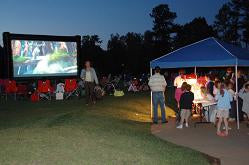 This outdoor cinema event was hosted by Avalanche Entertainment and Atlanta Outdoor Movies.