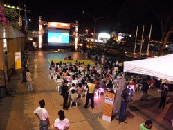 Outdoor Movies in Kuching, Malaysia