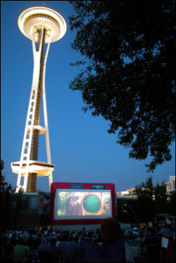 Movies Under the Stars in Seattle, Washington