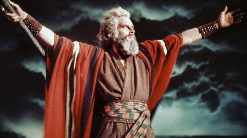 Charlton Heston as Moses in