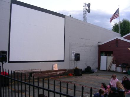 Outdoor Movies on the Wall in West Seattle, Washington