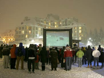 Outdoor Movies at the Whistler Film Festival in Canada