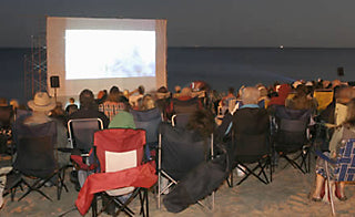 Outdoor Cinema in Gimli, Manitoba