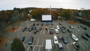 40ft wide screen - drive-in application