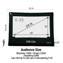 Load image into Gallery viewer, Elite Outdoor Movie Screen Kit 25'