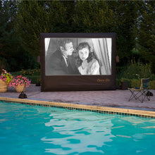 Load image into Gallery viewer, Inflatable 9' screen by the pool