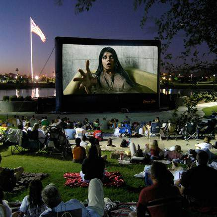 Open Air Cinema Elite 40' System in real life