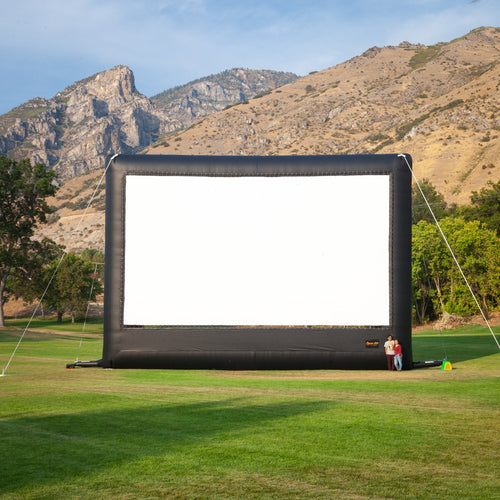 40 ft Elite Inflatable Screen with people for scale