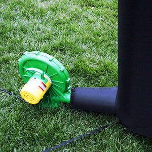Inflatable screen air blower