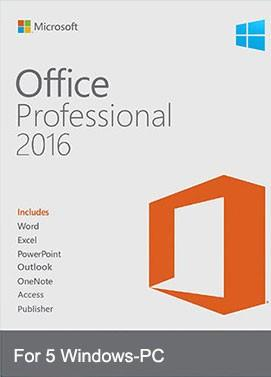 Microsoft Office Professional Plus 2016 For 5 PC