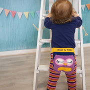 Blade and Rose leggings with fluffy Betty Owl motif to bum and bright stripey legs - why not buy with matching t-shirt and socks?