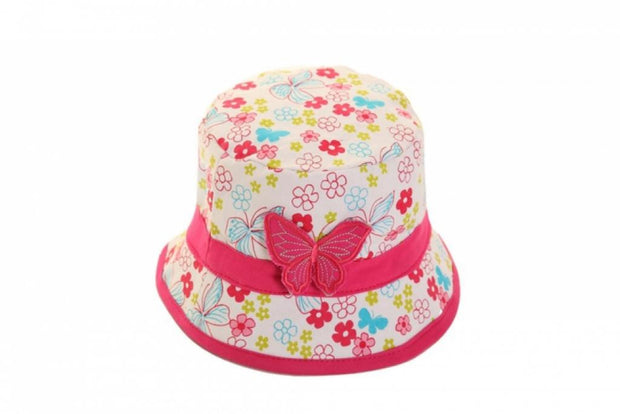 Butterfly and Flower Summer Bucket Hat