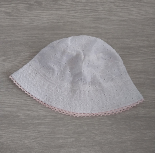 Flower Broderie Anglaise Hat