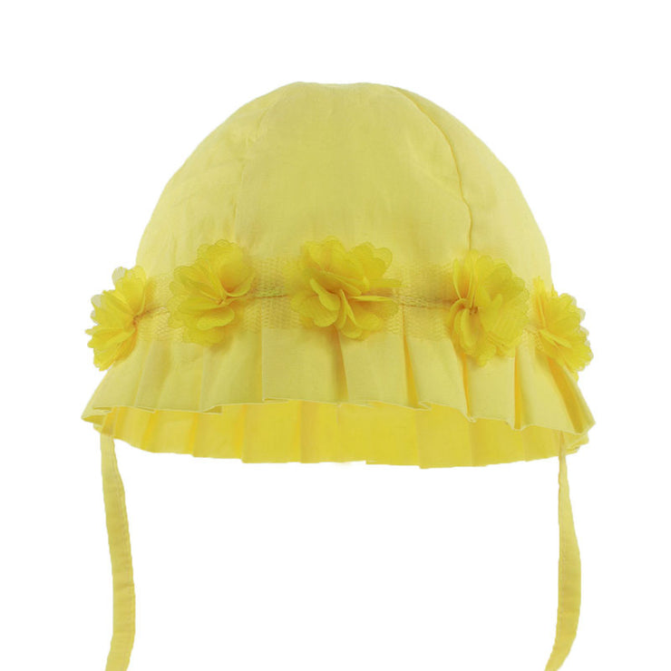 Yellow Flower Sunhat with Chinstraps