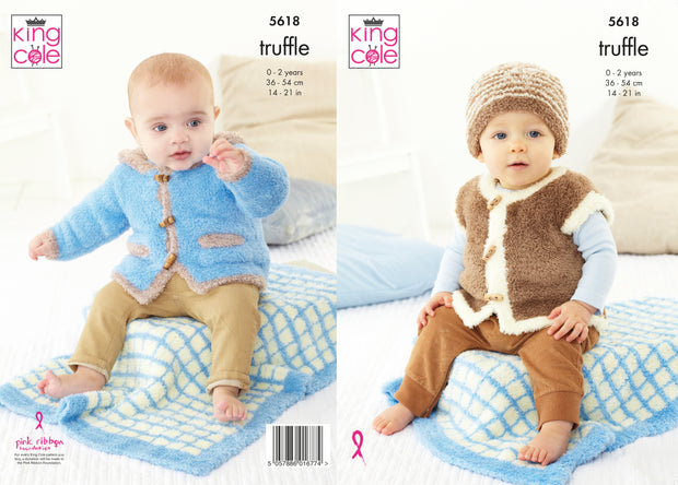 King Cole Pattern 5618 Blue Truffle Jacket