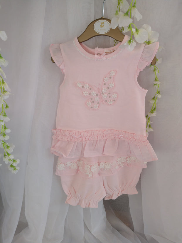 Mintini Flowers and Frills Top and Bloomers Set