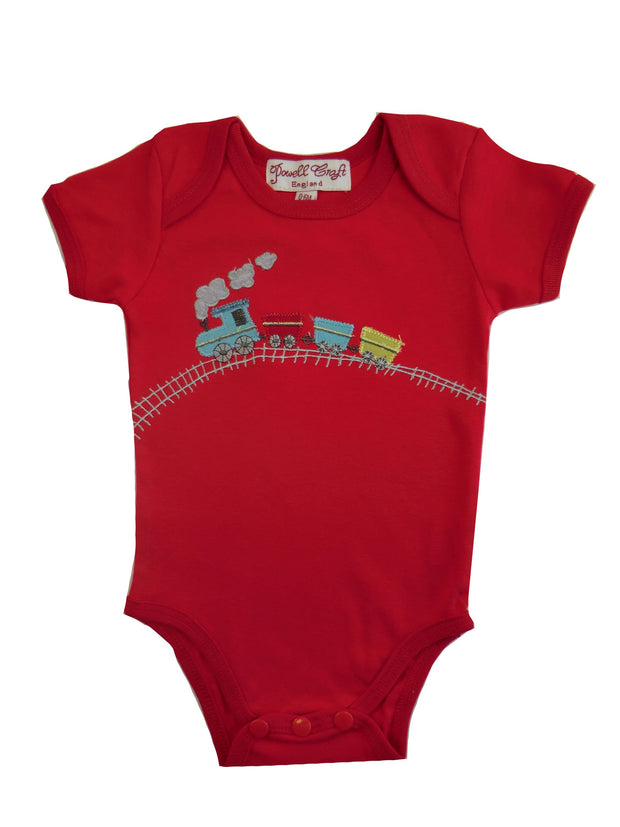 Powellcraft Train Babygrow