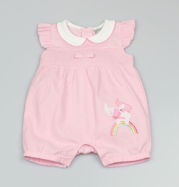 Pink Elephant and Rainbow Summer Romper