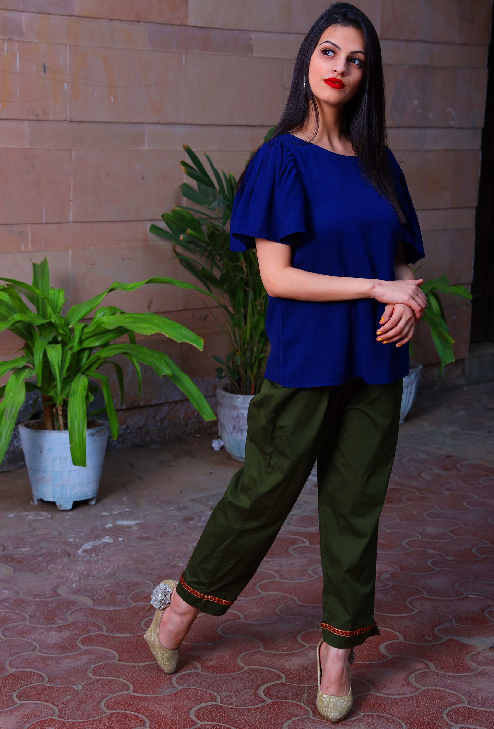 Military Green Traditional Cotton Trousers