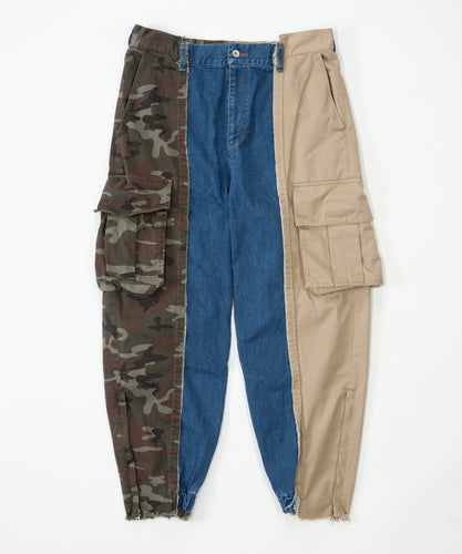 【SALE】Three pattern Cargo Jeans