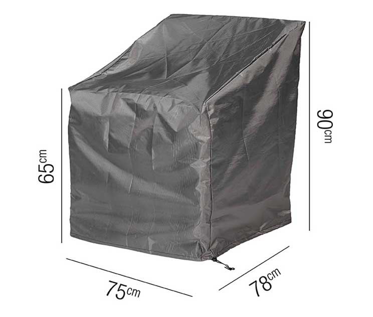 High Back Lounge Chair Aerocover 75x78x90cm