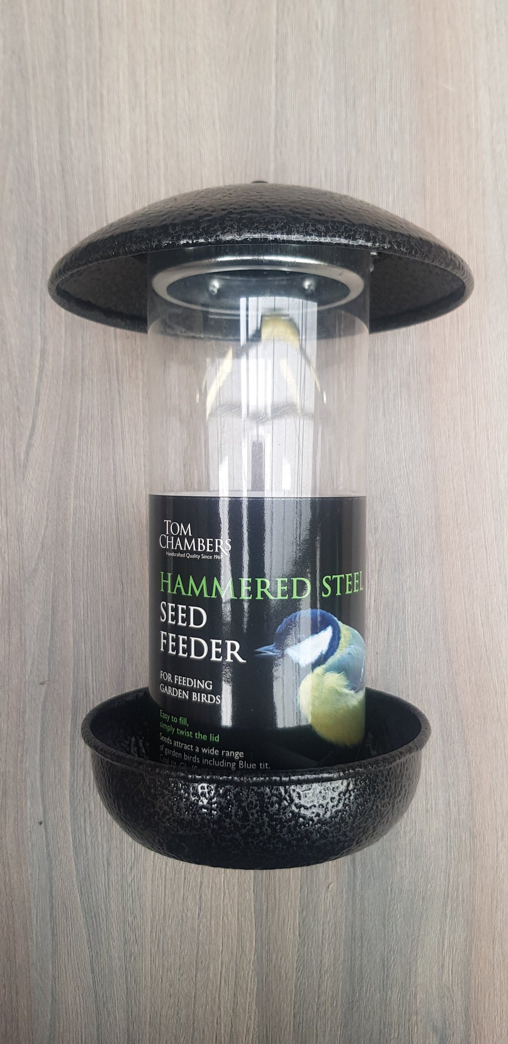 Hammered Steel Seed Feeder