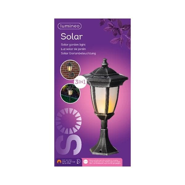 LED Solar Flame Effect Lantern