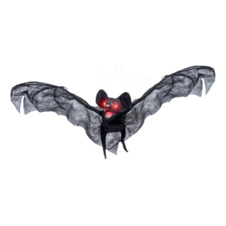 Halloween Bat with Lights and Sounds - Black