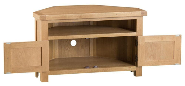 Duxburys Country Corner Solid Oak TV Unit