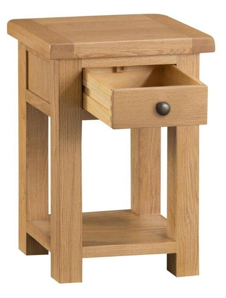 Solid Oak Side Table, Wood table