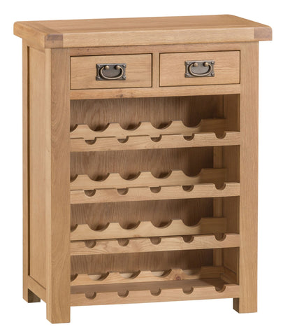 Duxburys Country Small Solid Oak Wine Rack