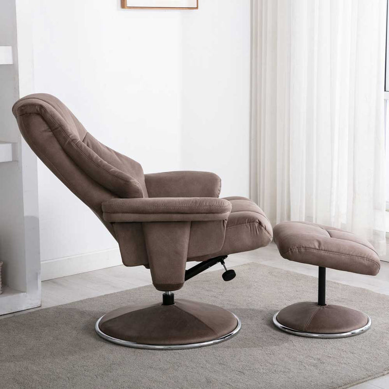 Denver Swivel Recliner and Footstool - Various Colour Options