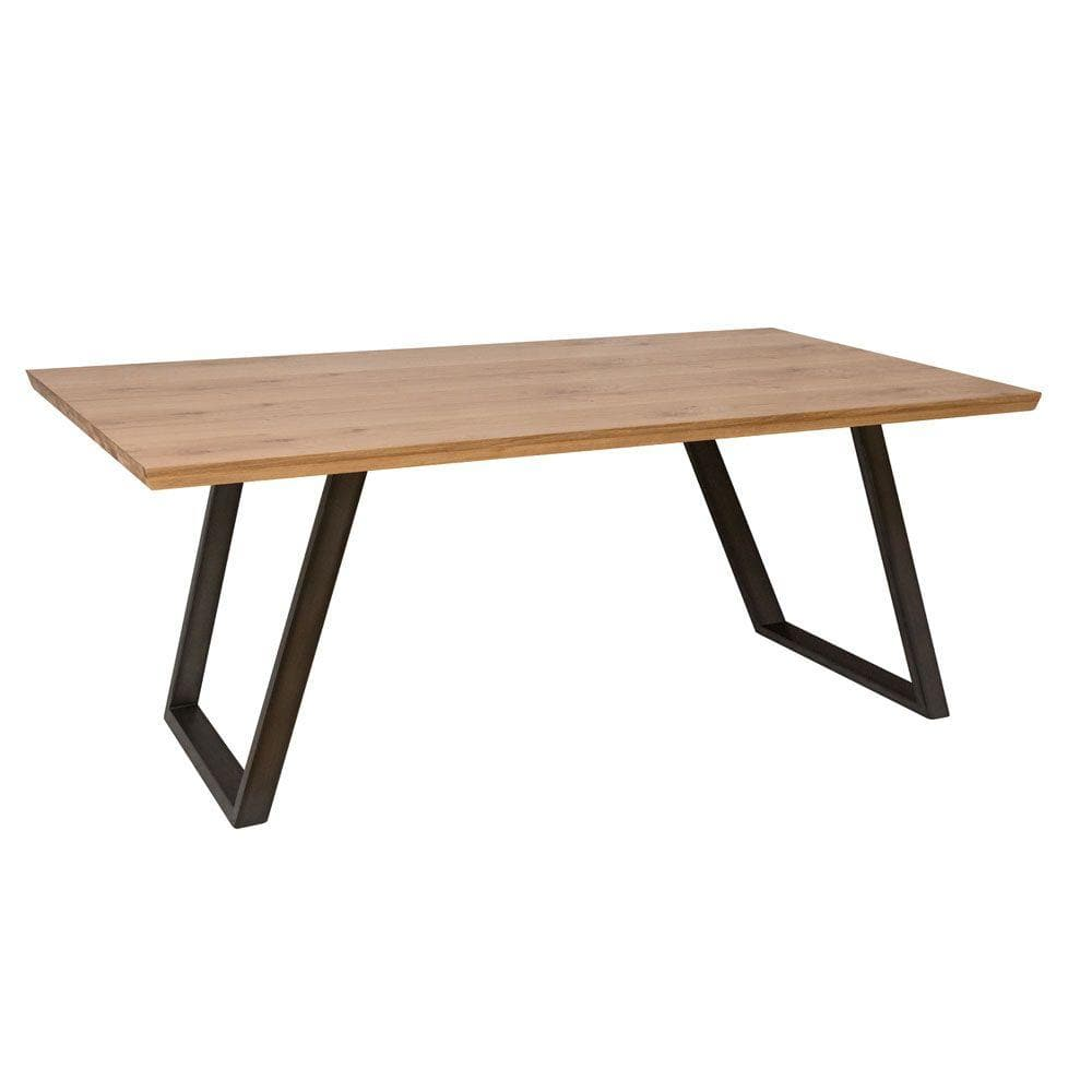 Duxburys Industrial Revolution Oak Dining Table - 180cm