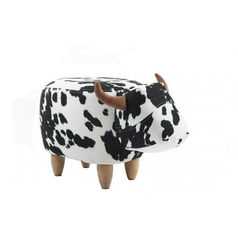 Lulu the Black and White Cow Footstool