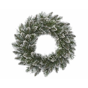 Frosted Finley Pine Wreath