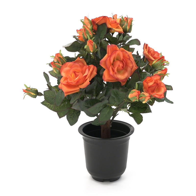 Artificial Small Potted Rose Shrub - Pink