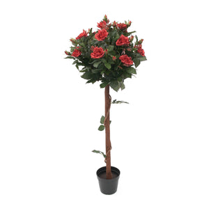 Artificial Tall Yellow Rose Tree - 120cm