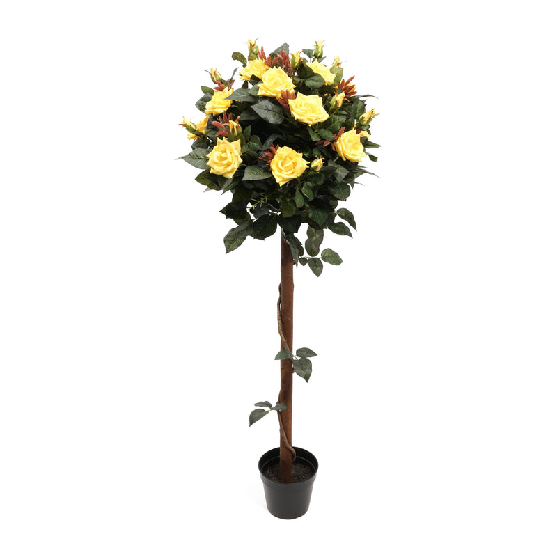 Artificial Tall Red Rose Tree - 120cm