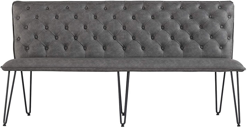Industrial Studded Back 180cm Bench with Hairpin Legs