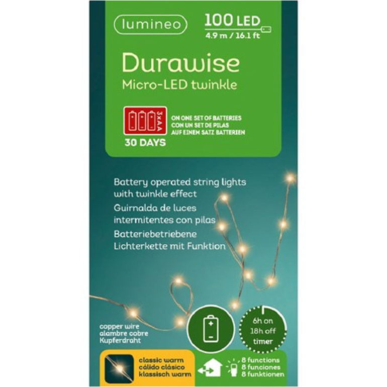 LED Durawise Twinkle Christmas Lights