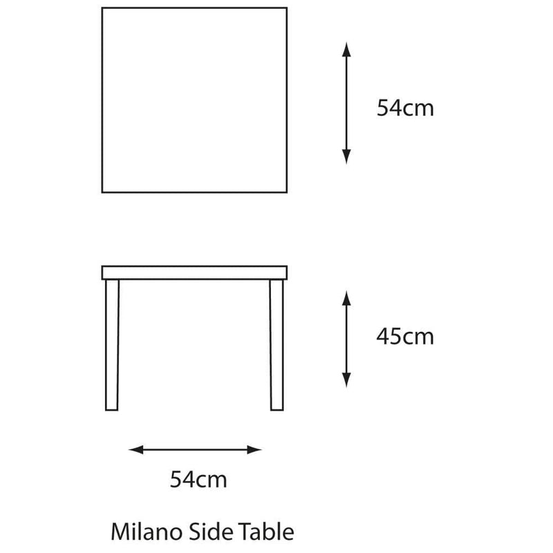 Milano Aluminium Garden Side Table