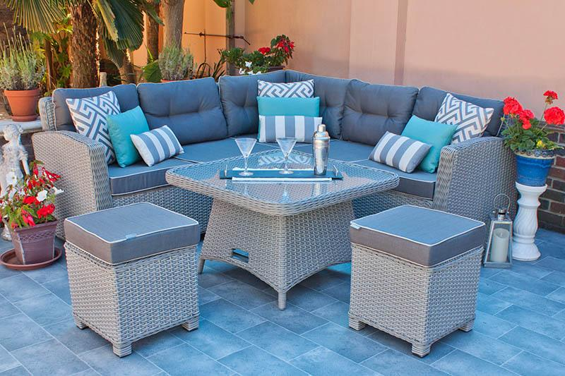 Manhattan Garden Corner Dining Set (Chesham by Casamore)