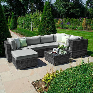 Chelsea Rattan Corner Sofa Set - Grey **PRE-ORDER FOR JANUARY ONLY**