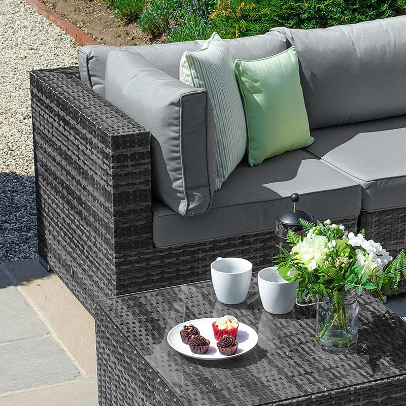 Chelsea Rattan Corner Sofa Set - Grey