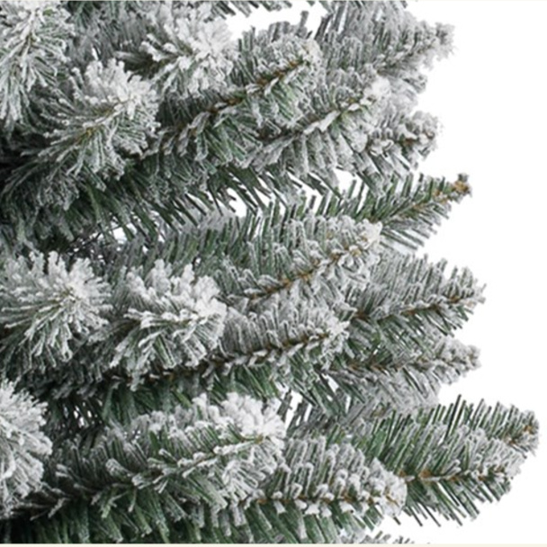 Snowy Pencil Pine Christmas Tree 4ft
