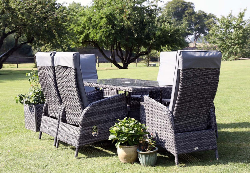 Supremo | Tivoli Reclining 6 Seat Rectangular Garden Dining Set
