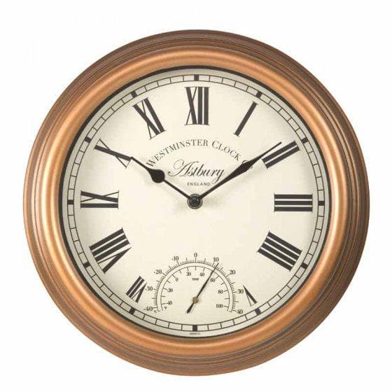 Astbury Wall Clock & Thermometer 12in