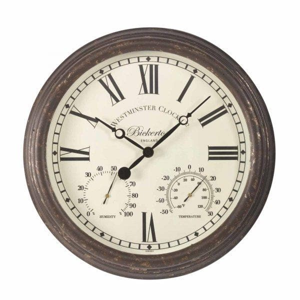 Bickerton Wall Clock & Thermometer 15in