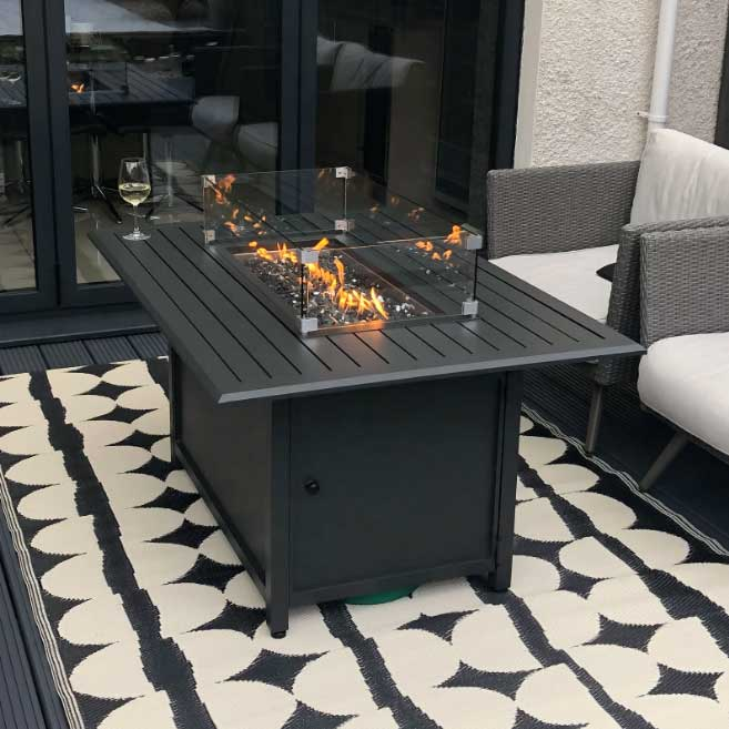 Nova Mercury Rectangular Fire Pit Table